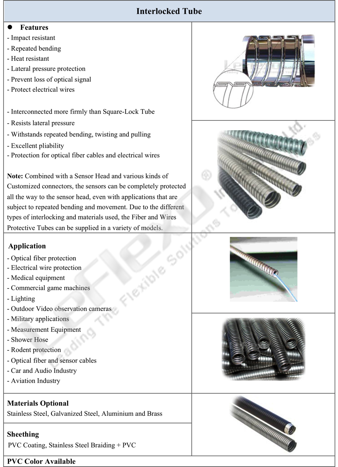 Interlocked Tube Spec China Manufacturer